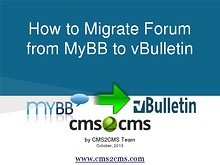 How to Migrate to vBulletin