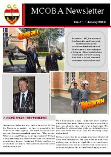 MCOBA NEWSLETTER / Issue 1 / January 2014