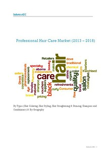 Professional hair care market.
