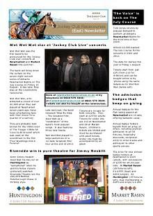 JCR East newsletter New Year 2014