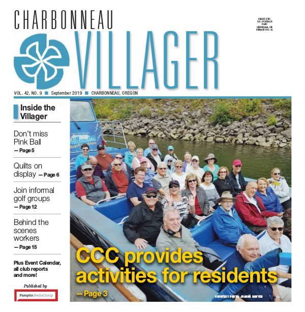 2019 Sept issue Villager newspaper