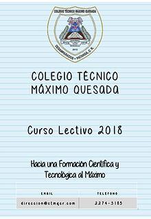 Calendario 2018 CTMQ