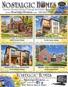 Nostalgic Homes Real Estate Newsletter
