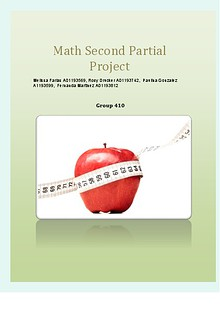 Math second partial project