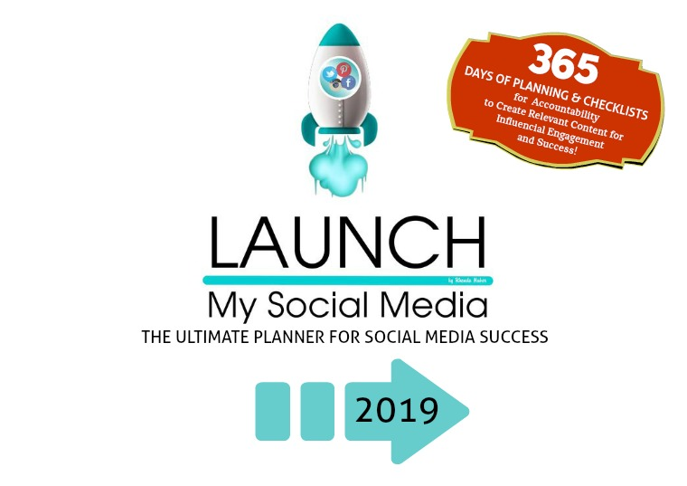 Launch My Social Media - Lifestyle & Content Planner 2019 Content Planner