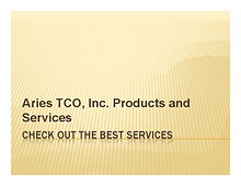 Aries Tco Solutions - The Final Solution