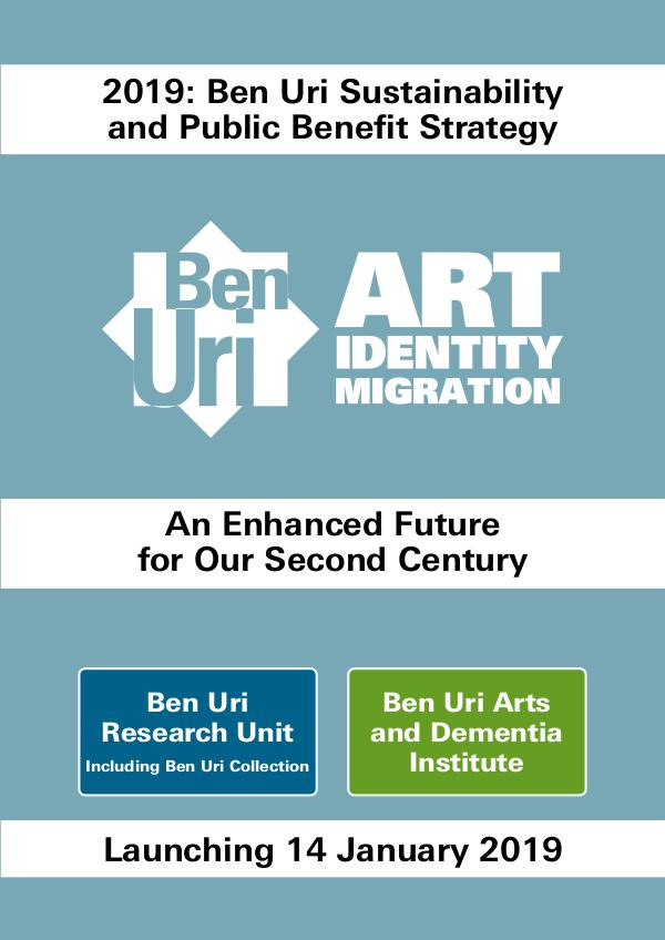 Ben Uri future strategy Strategy document