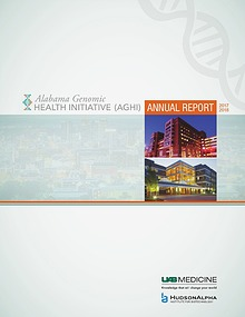 Alabama Genomic Health Initiative (AGHI) Annual Report 2017-2018