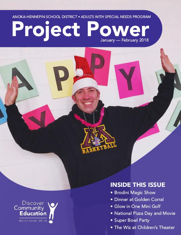 Community Education - current class catalogs Project Power - Winter 2017-18