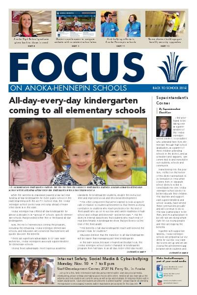 Newsletters 2014-15 Focus newsletter, [1] fall
