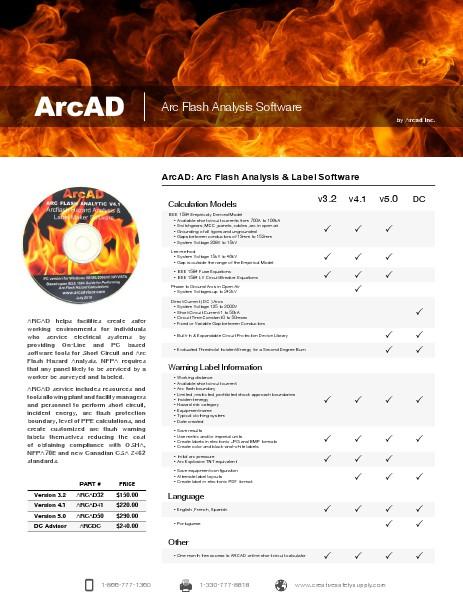 Arc Advisor Comparison Pricing April 2014