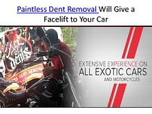 Paintless Dent Removal Will Give a Facelift to Your Car