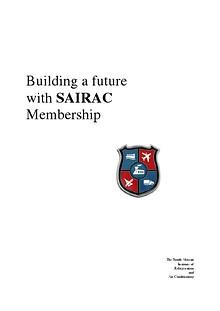 Building a Future with SAIRAC Membership