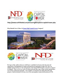 Why Should Own A Place At Emaar Mgf Capital Towers Gurgaon?