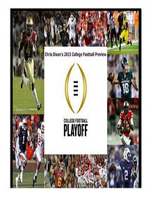Chris Dixon's 2015 College Football Preview