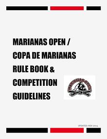 MARIANAS OPEN AND COPA DE MARIANAS RULE BOOK