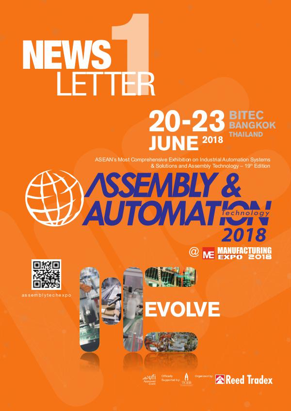 Assembly & Automation Technology 2018 Newsletter #1 AST_2018_NEWSLETTERS#1_140318