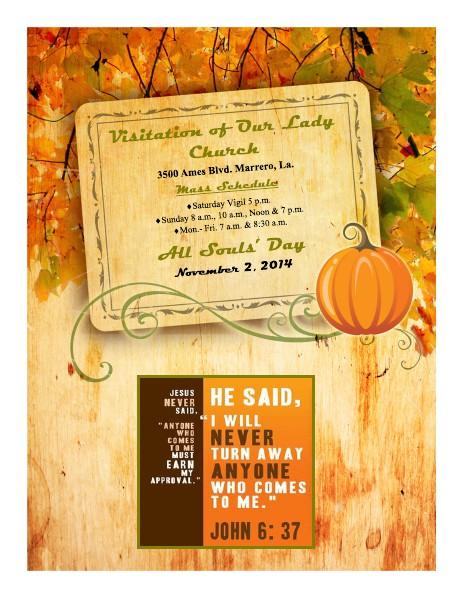 VOL Parish Weekly Bulletin November 2, 2014 Bulletin