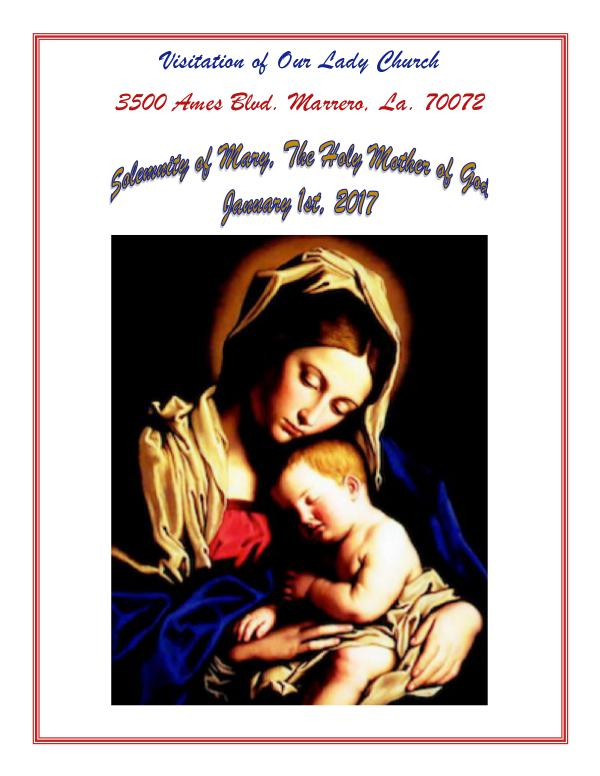 VOL Parish Weekly Bulletin January 1, 2017