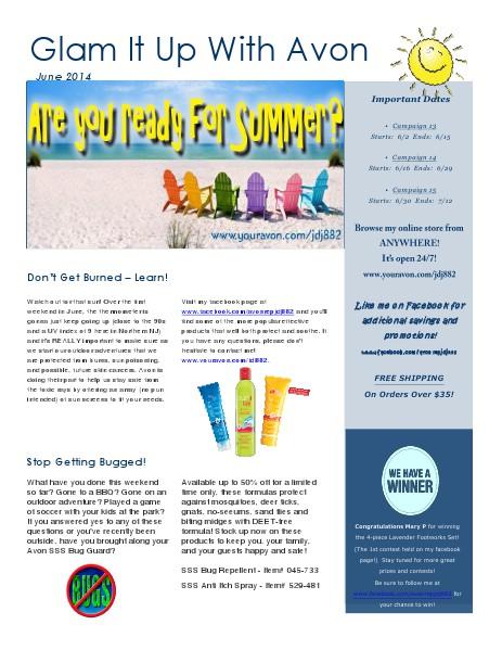 June Avon Newsletter.pdf June 2014