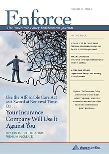 Enforce: The Insurance Policy Enforcement Journal  vol 12   issue 1