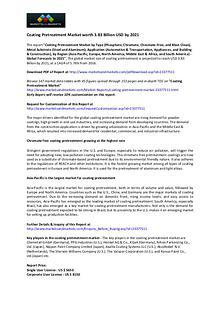 Coating Pretreatment Market worth 3.83 Billion USD by 2021