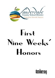 LCSD Honor Roll List First Semester 2019