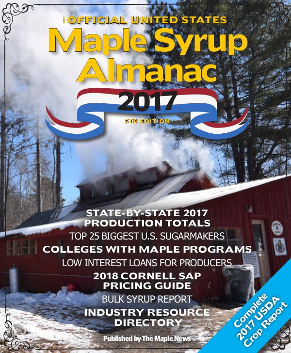 The Official U.S. Maple Syrup Almanac -- 2017 Alamanc_2017