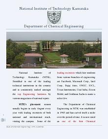 Brochure - Chemical Engineering, NITK
