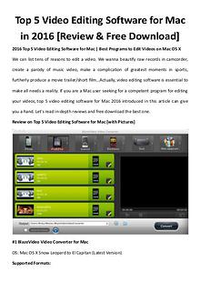Multimedia Software