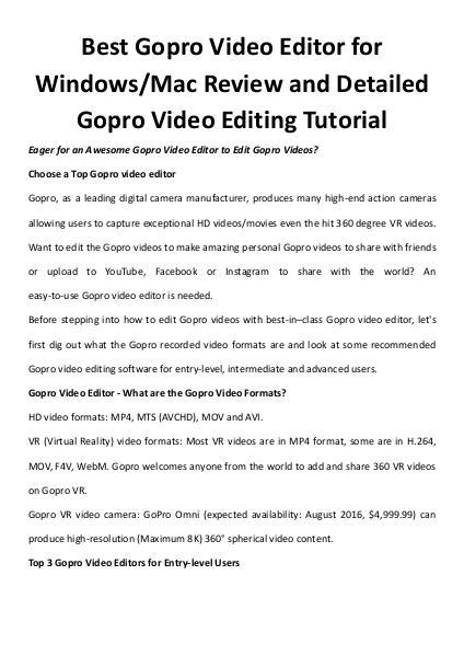 Top gopro video editor