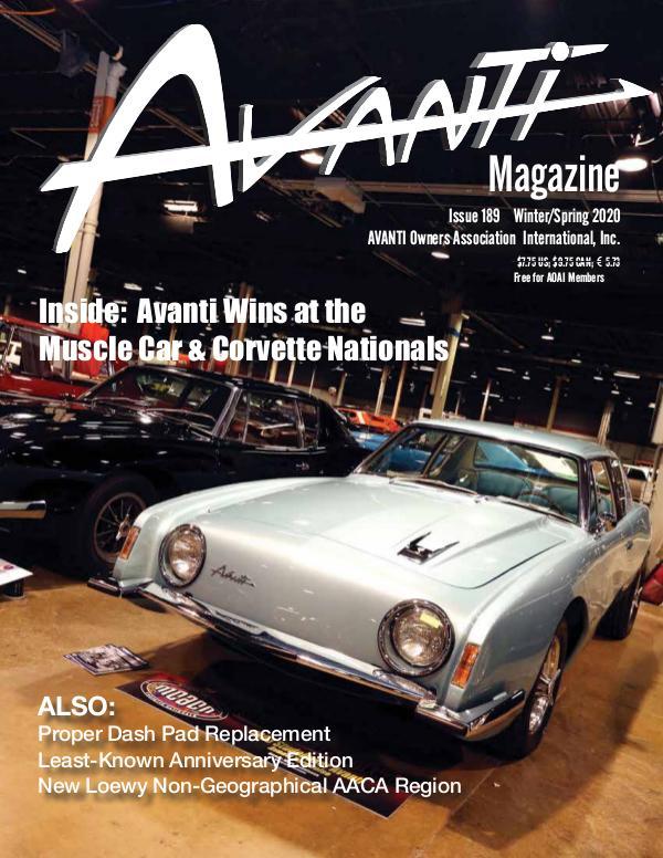 Avanti Magazine Winter/Spring 2020 #189