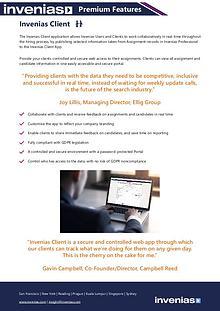 Invenias Client Datasheet
