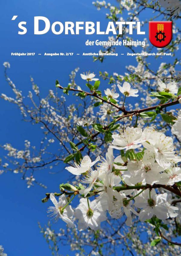 's Dorfblattl Haiming - Digitalausgabe Dorfblattl Haiming Frühjahr 2017 - 02/17