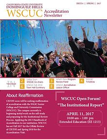 CSUDH WSCUC Accreditation Newsletter