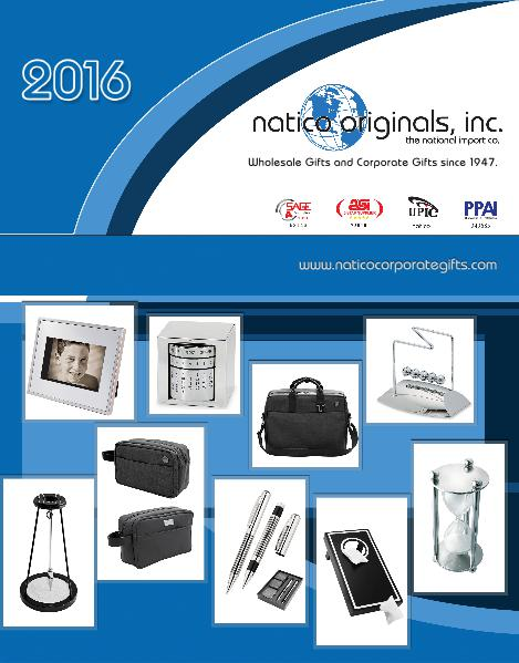 ASI Catalog 2016 Natico ASI Catalog - 2016