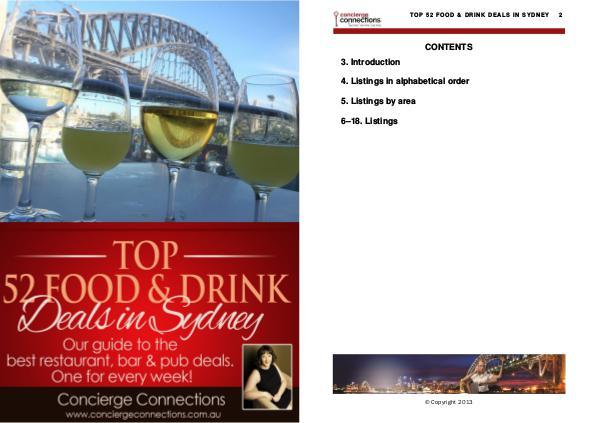 Top 52 Food & Drink Deals in Sydney Edition 1
