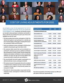 Benefit Insights   Cost of Living Adjustments