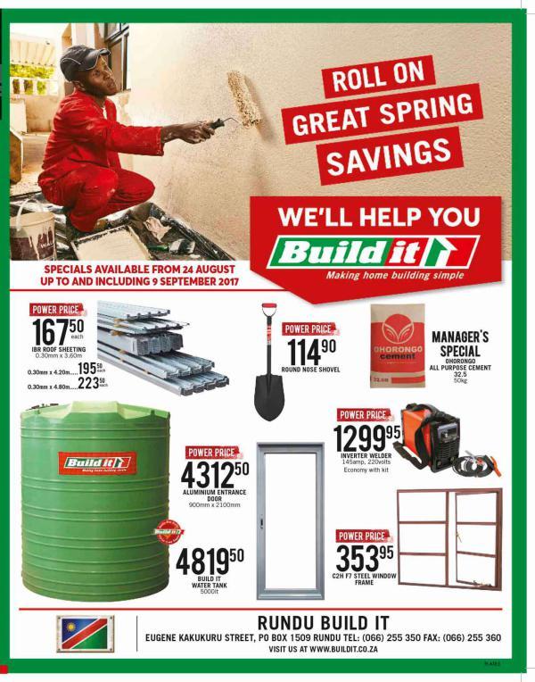Build It Namibia - Rundu 24 Aug - 9 Sept 2017