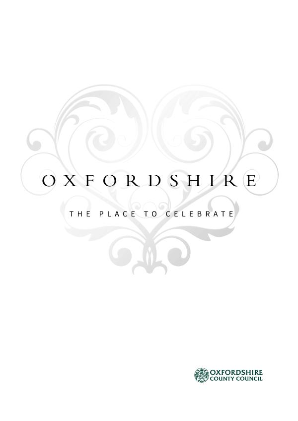 Oxfordshire, the place to marry Oxfordshire 2019