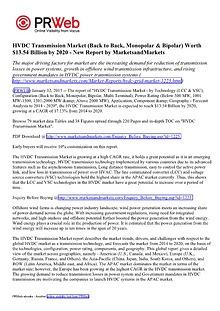 HVDC Transmission Market (LCC & VSC) by Technology - 2020 | Marketsan