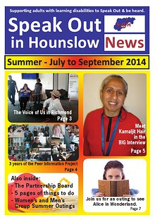 Speak Out News - July - Sep 2014