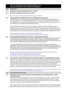 FS Risk Conference Agenda - 4 September 2014