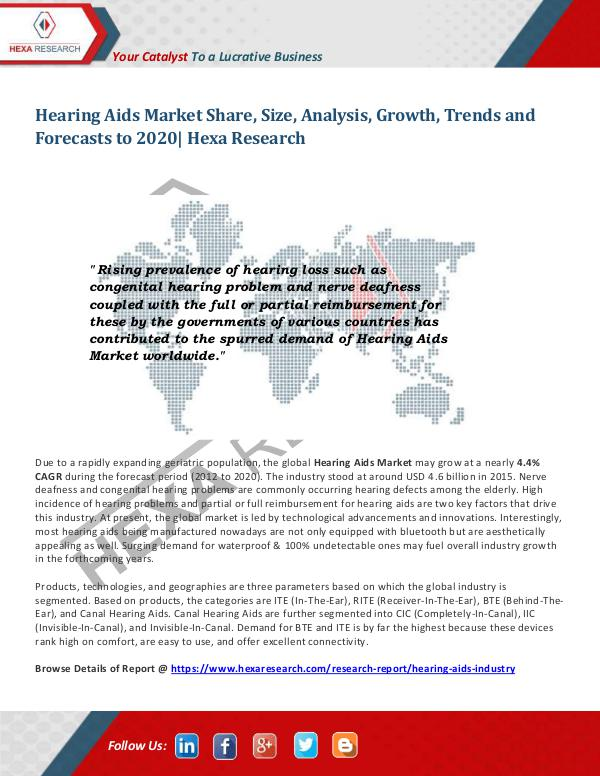 Hearing Aids Market Trends 2020