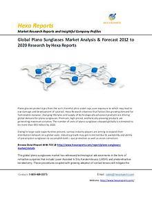 Plano Sunglasses Market share, size, Analysis & Forecast 2012 - 2020