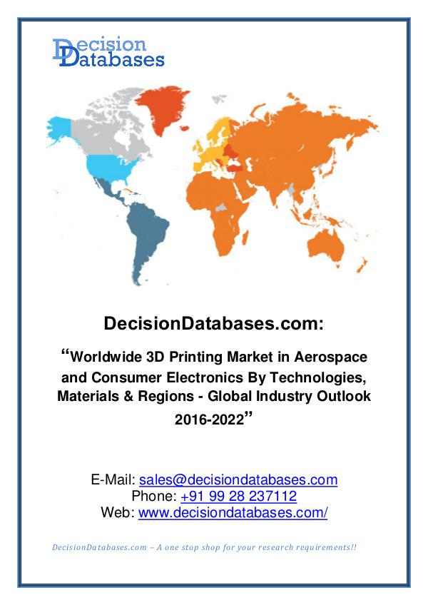3D Printing Market Size, Revenue and Forecast