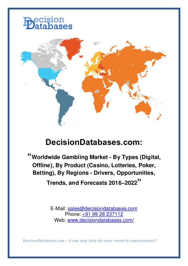 Market Report - Gambling Market Share and Forecast Analysis 2020