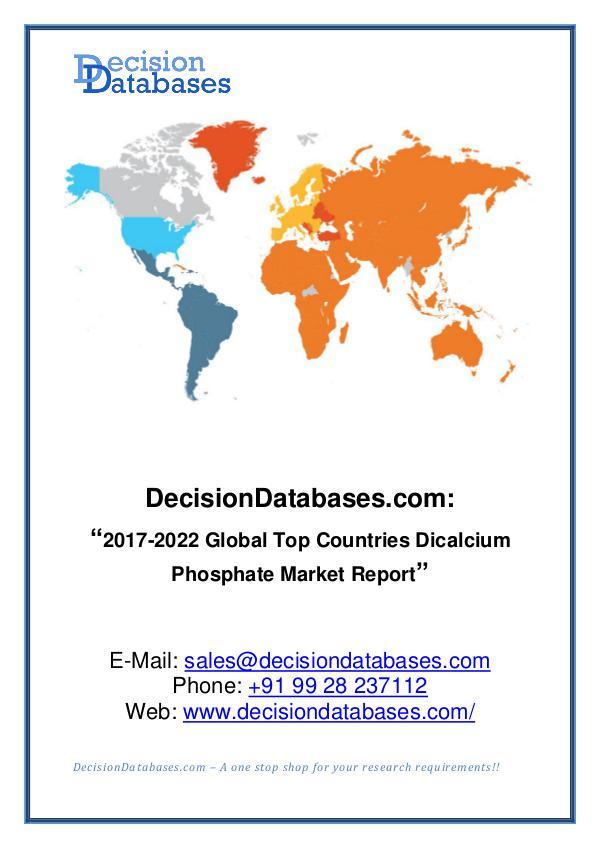 Global Dicalcium Phosphate Market Analysis Report