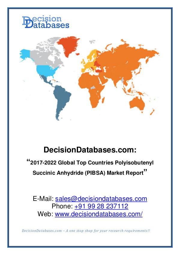 Polyisobutenyl Succinic Anhydride (PIBSA) Market
