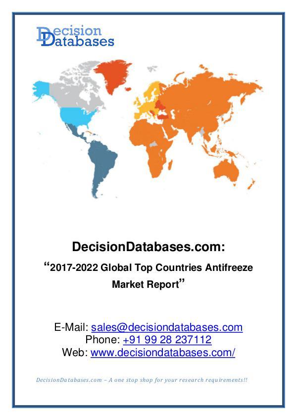 Antifreeze Market Analysis Report 2017-2022